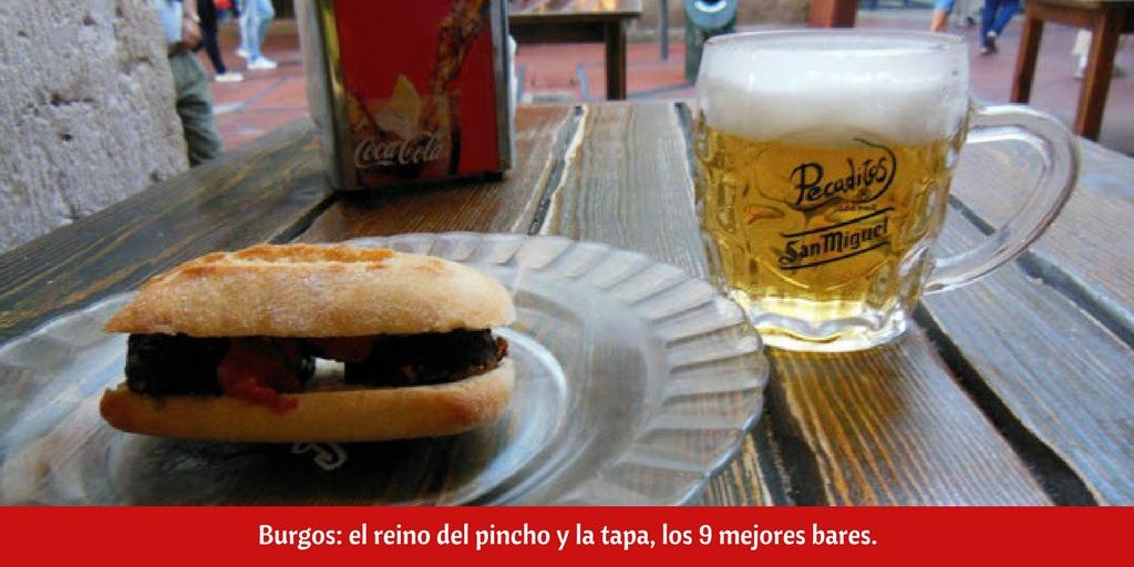 9 bares de tapas en Burgos