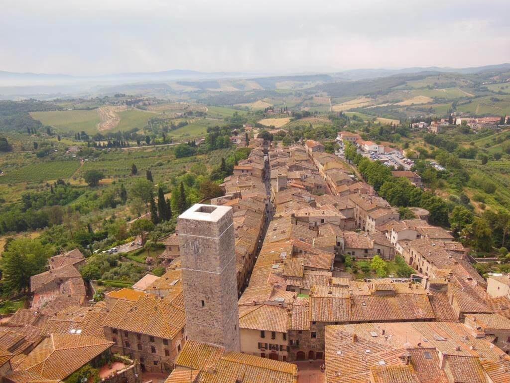 Panorámica de San Gimignano desde lo alto de la Torre Grosa