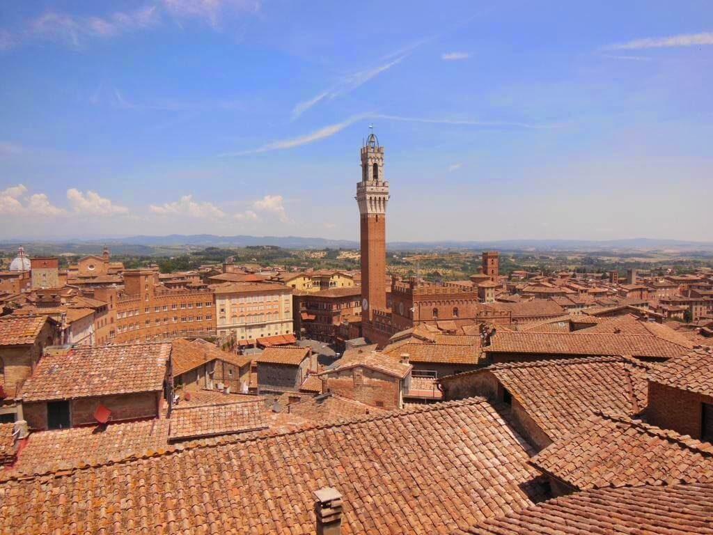 Vistas de Siena desde el Panorama de Facciatone