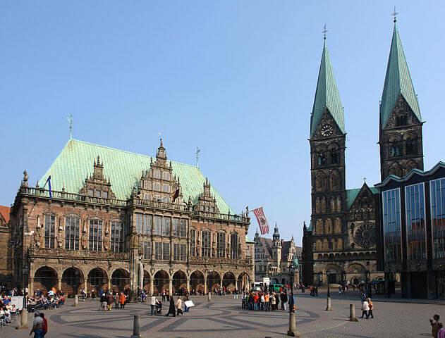 ¿Qué ver en Bremen en un día? Ayuntamiento y Catedral @wikimedia