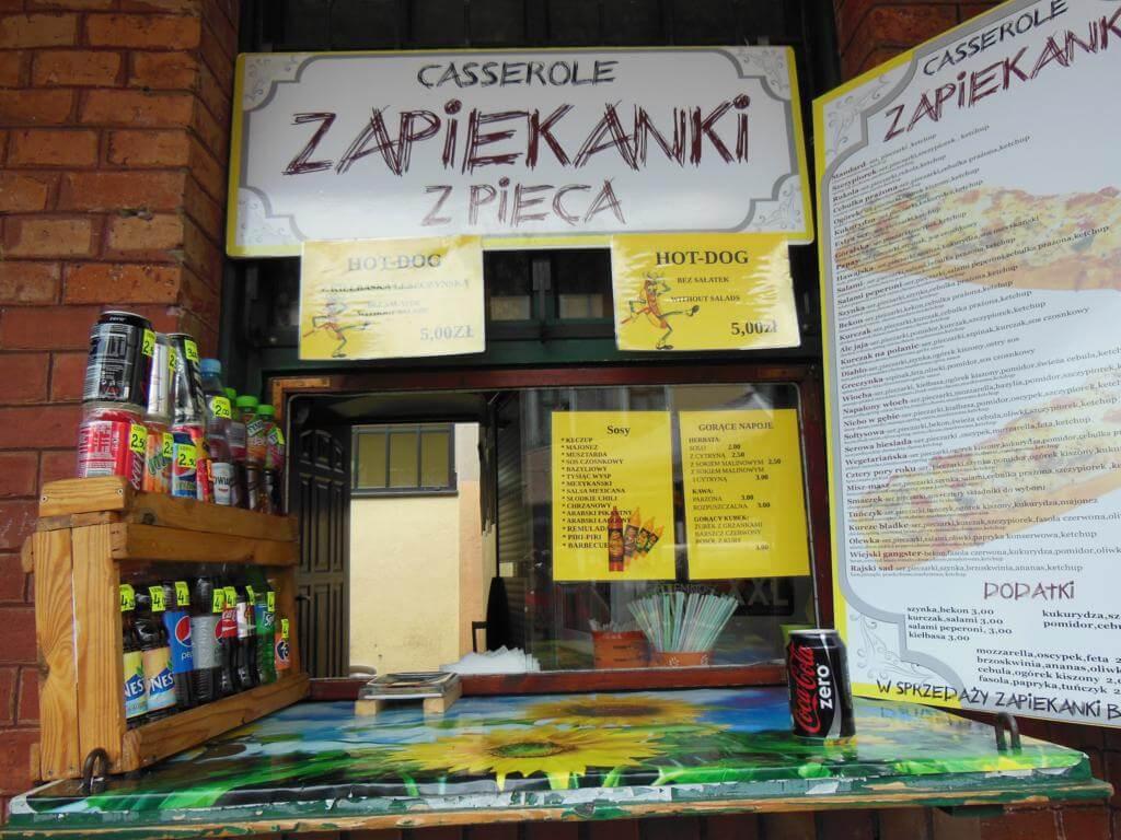Puesto de comida de zapiekanki