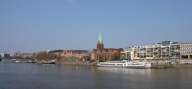 El río Weser se hace navegable en la ciudad de Bremen @wikimedia