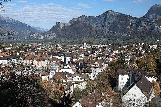 Panorámica de la ciudad de Bad Ragaz en Suiza @Wikimedia