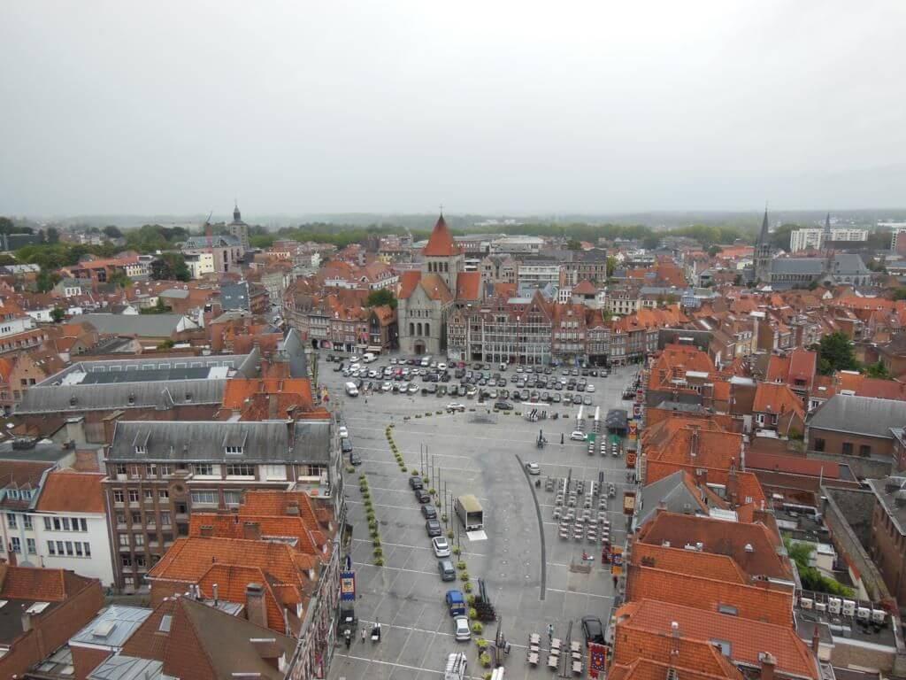 Panorámica de Tournai desde el campanario