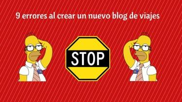 9 errores al crear un nuevo blog de viajes