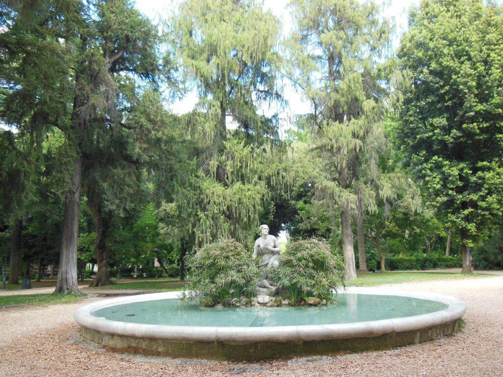 Fuente en Villa Borguese