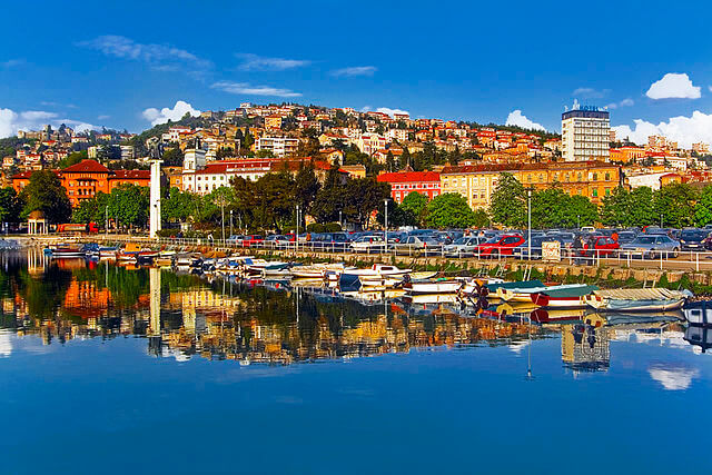 Panorámica de Rijeka (Croacia)