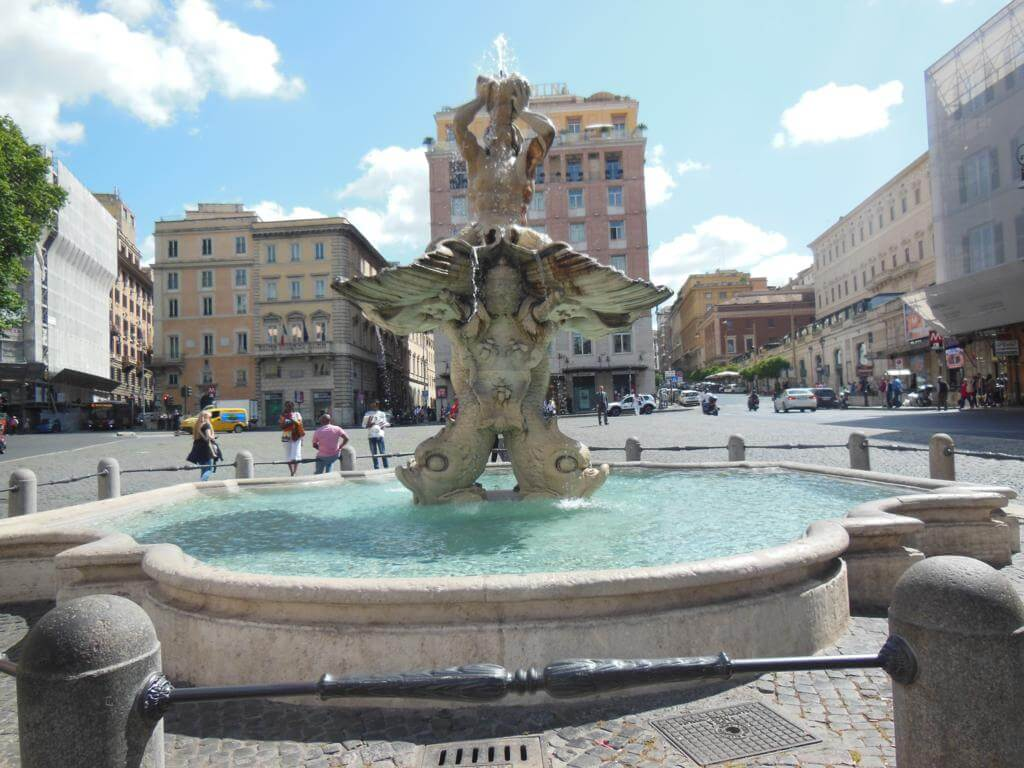 Plaza Barberini, de las plazas más bonitas de Roma