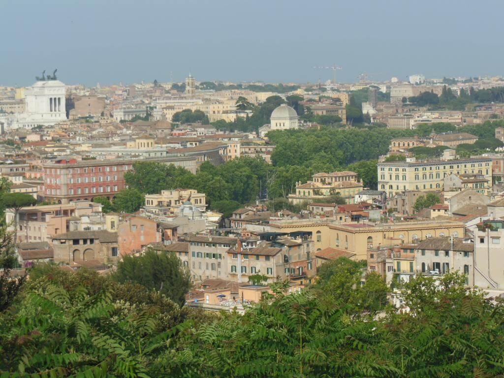 Vistas de Roma desde el Gianicolo