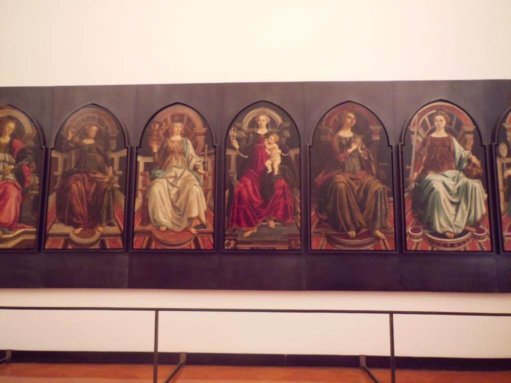 Botticelli y Pollaiolo: obra theological and cardinal virtues