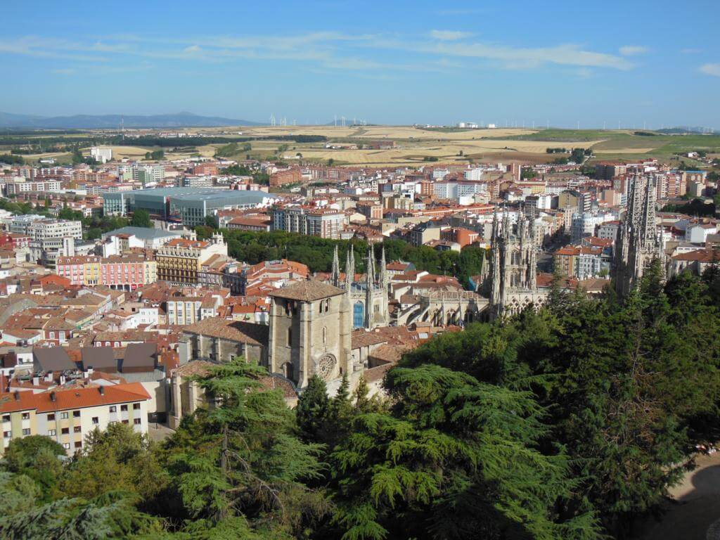 Burgos desde la muralla del Castillo