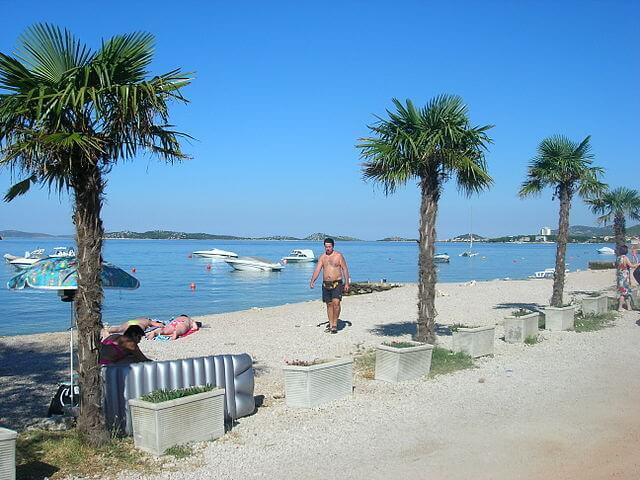 Playa en Vodice (Croacia)