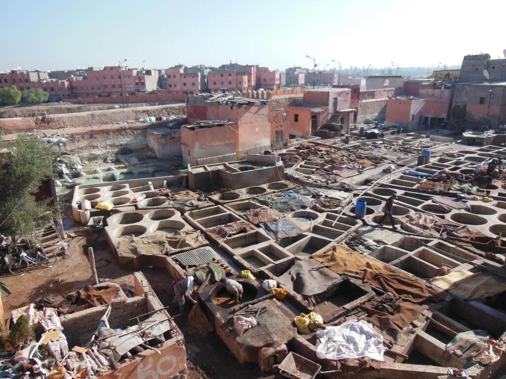 Qué ver y hacer en Marrakech. Las curtidurías