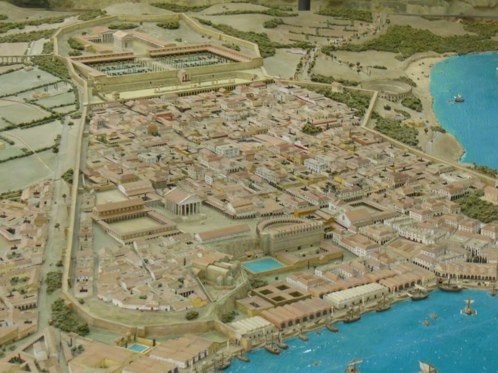 Maqueta de la ciudad romana de Tarraco
