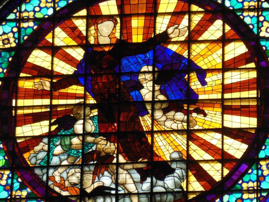 Vidriera en la Catedral de Girona