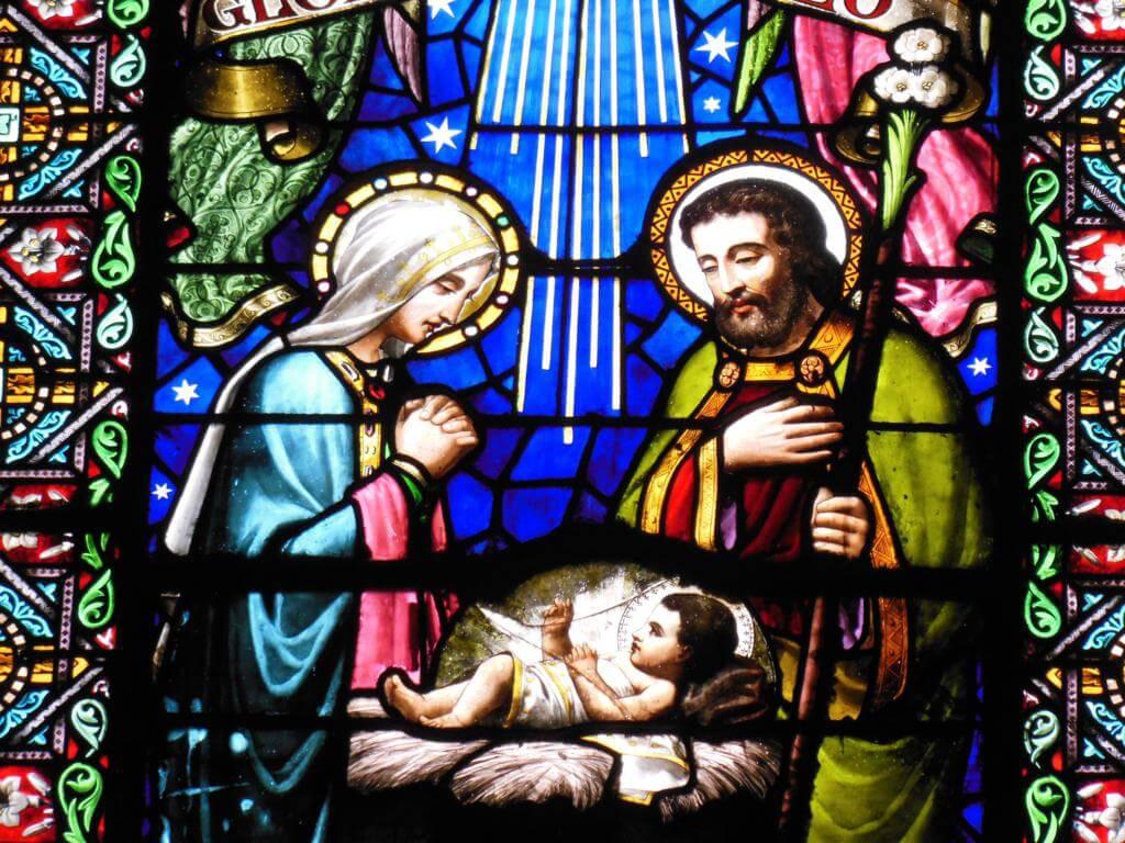 Vidrieras en la abadía de Montserrat