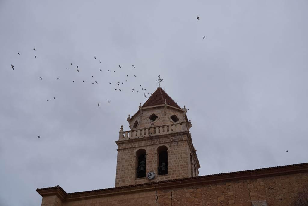 Campanario de la Parroquia de la Asunción de Nuestra Señora en Mahora
