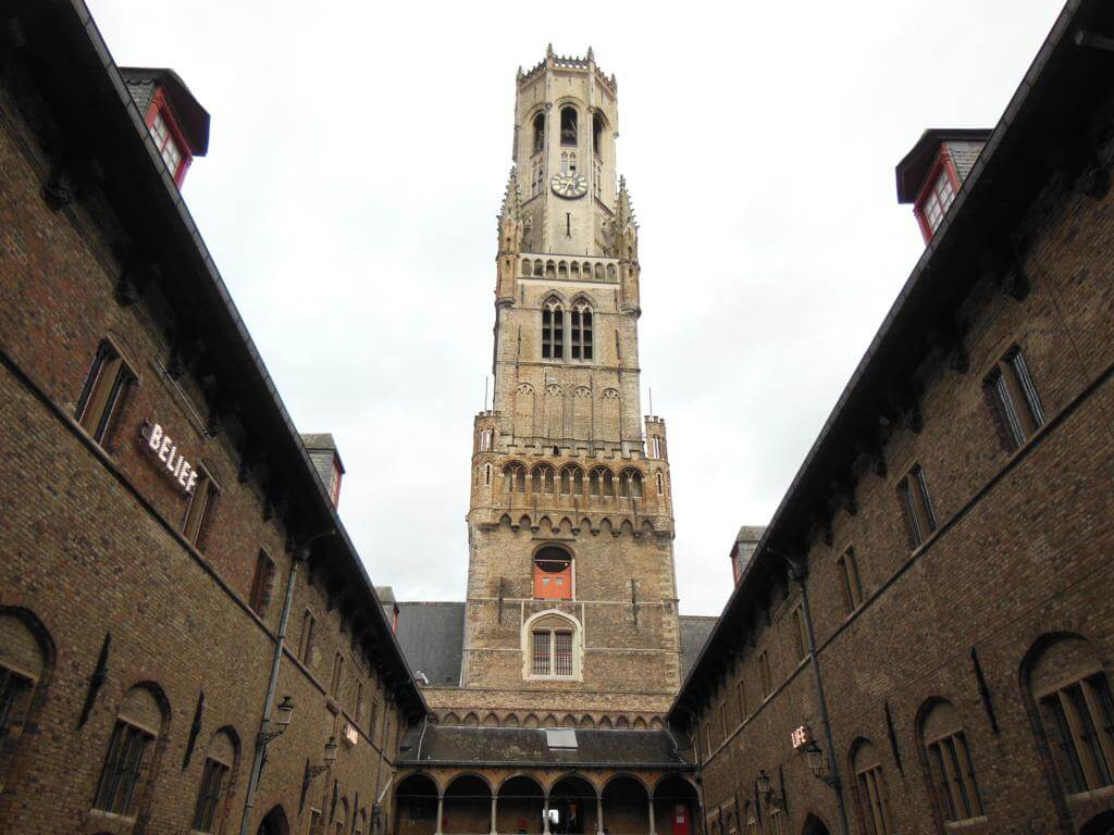 Belfry of Bruges: one of the most beautiful cities in Belgium