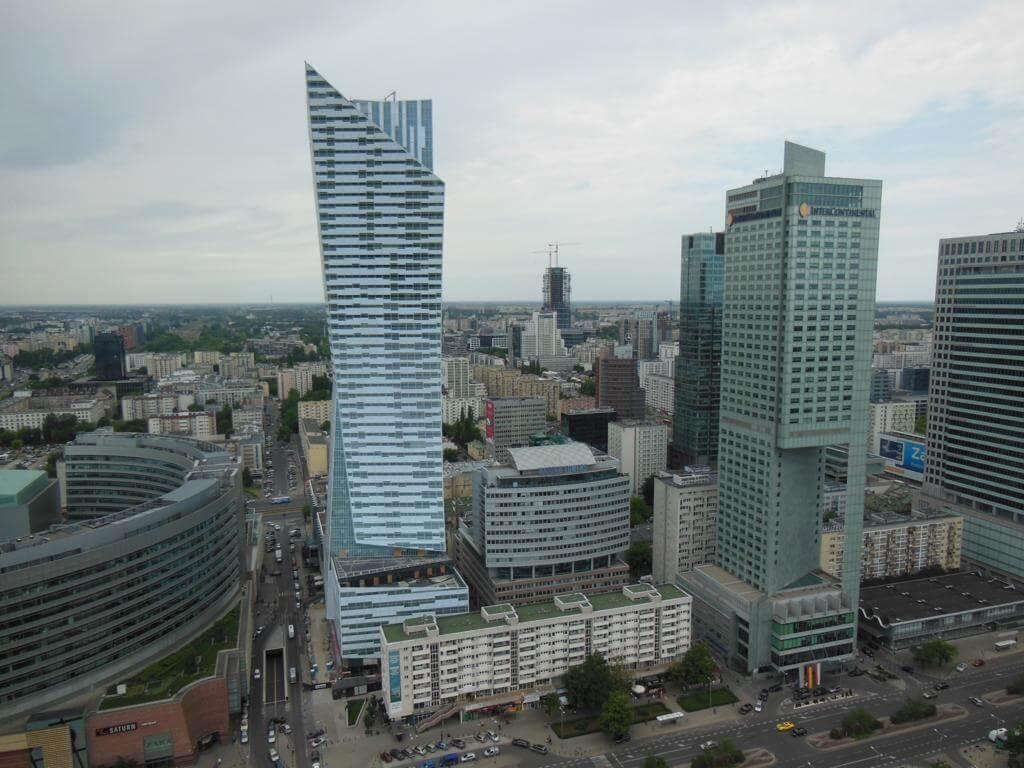 Varsovia desde el Palacio de la Cultura y la Ciencia