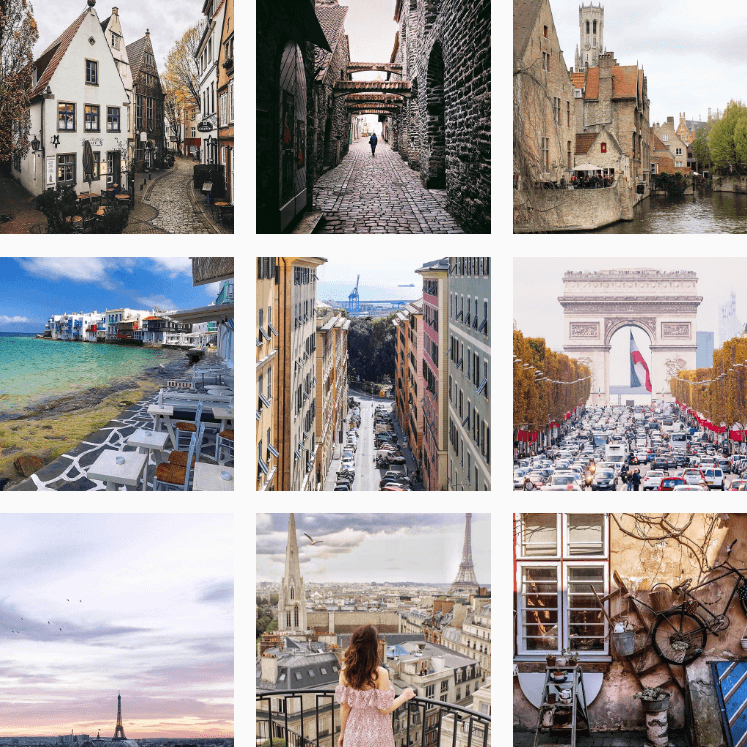 Travel Hashtags by @Instagram