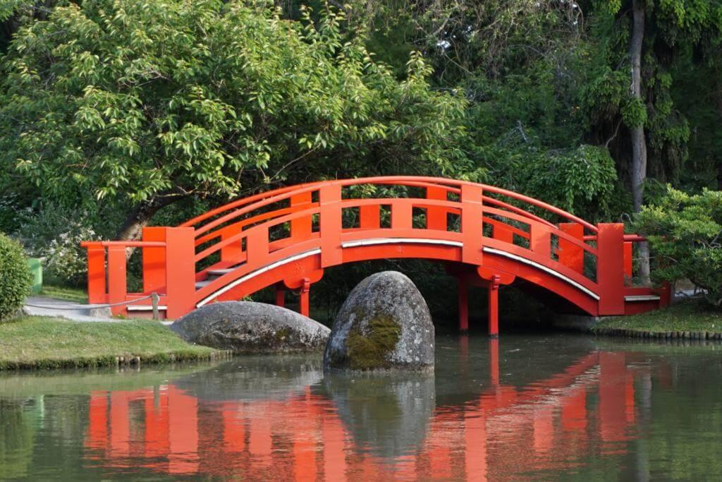 Jardín Japonés dentro del Jardin Compans Caffarelli