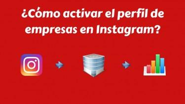 Activar perfil de empresas en Instagram
