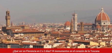 ¿Qué ver en Florencia en 2 o 3 días?