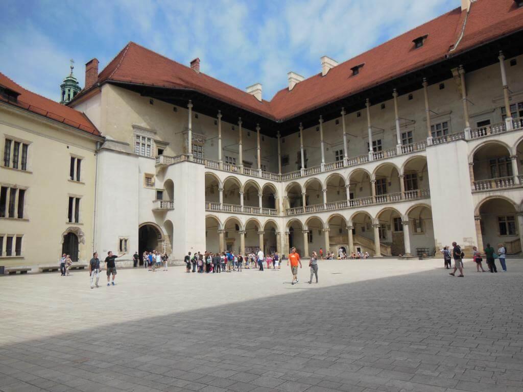 Entrada a los aposentos reales del Castillo Wawel.