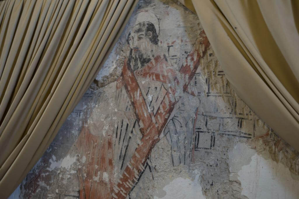 Frescos en la Iglesia del Espíritu Santo de Riópar Viejo