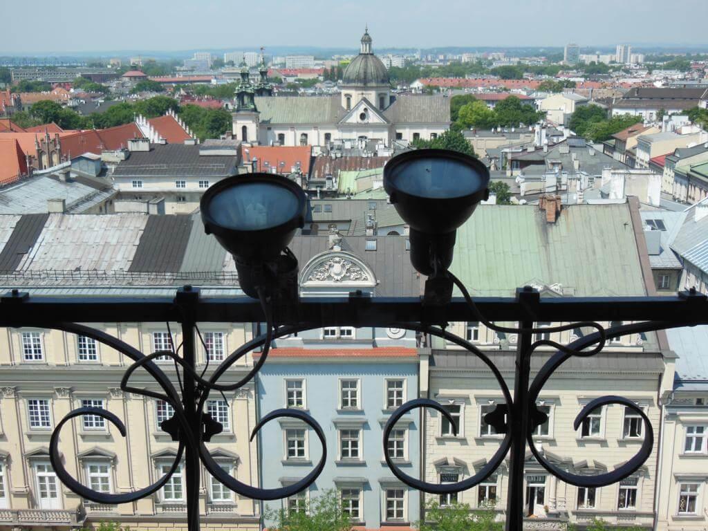 Vistas de Cracovia desde la Torre del Ayuntamiento.
