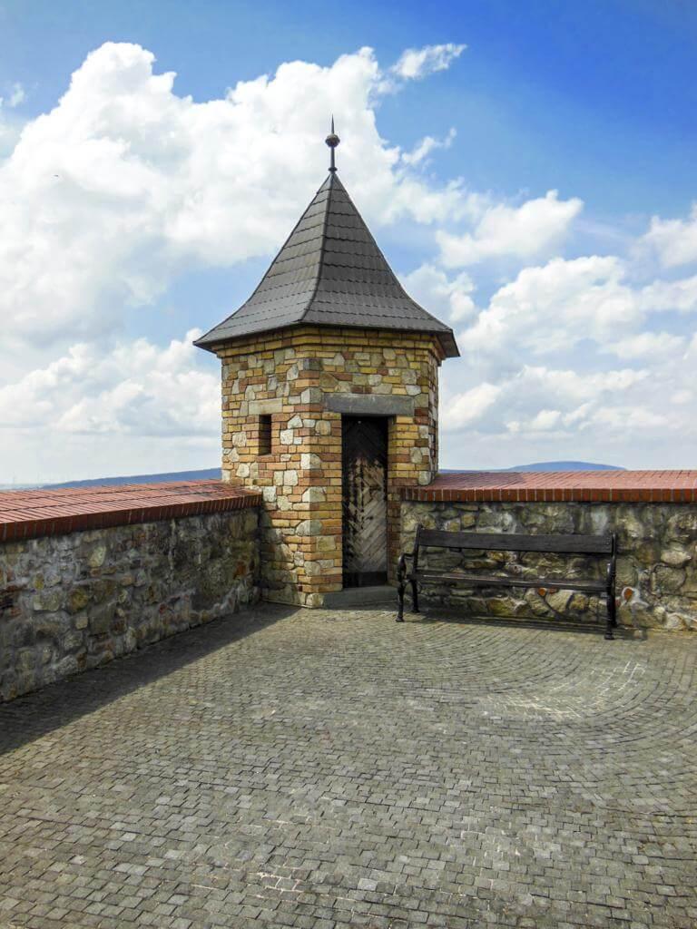 Uno de los miradores del castillo.