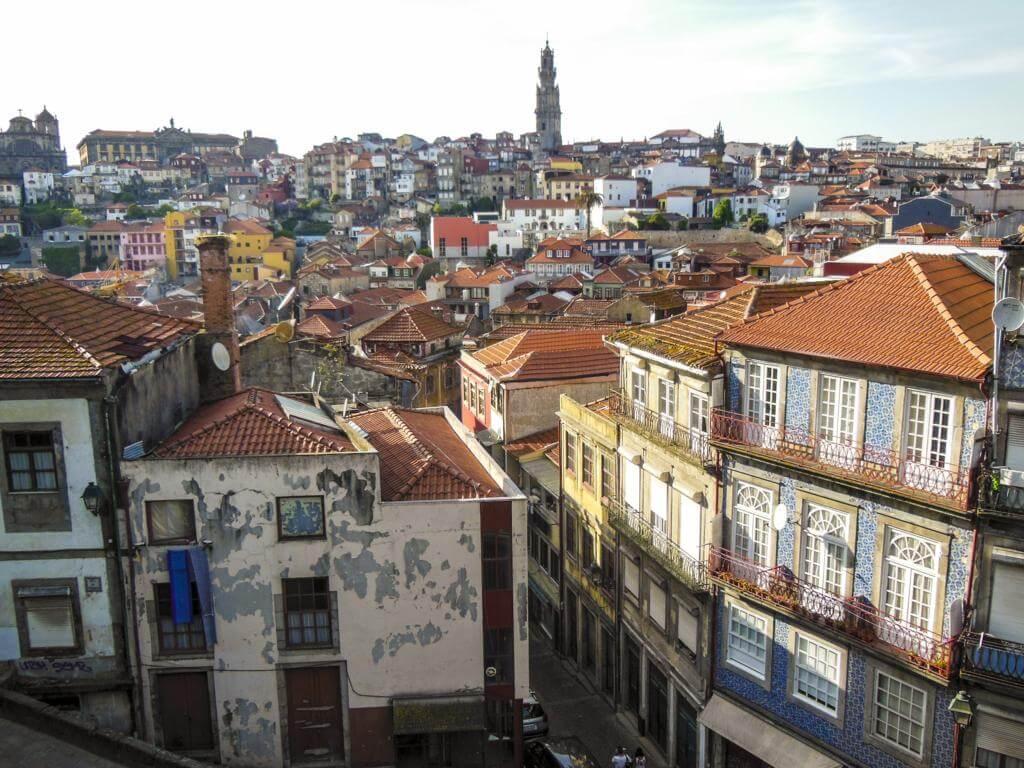 Parte alta de Oporto, desde donde se toma el funicular.