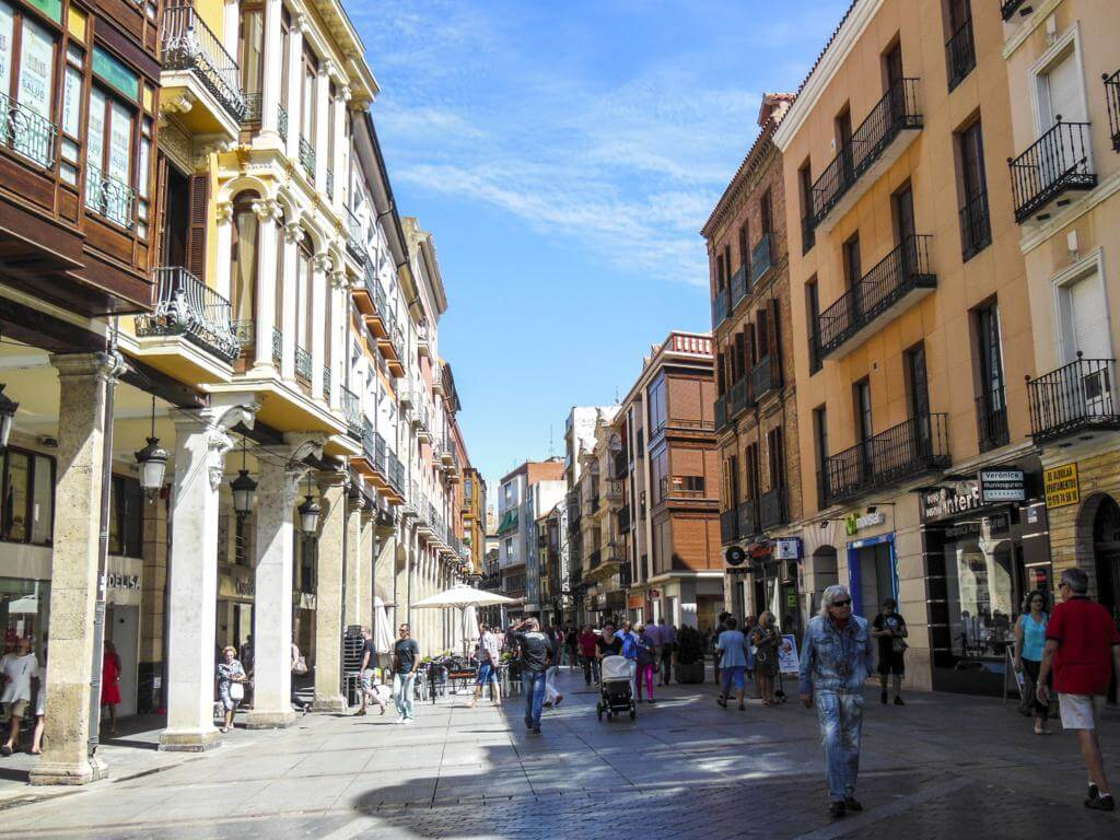 Calle Mayor de Palencia.