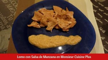 Lomo con Salsa de Manzana en Monsieur Cuisine Plus