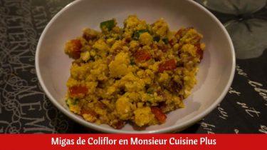 Migas de Coliflor en Monsieur Cuisine Plus