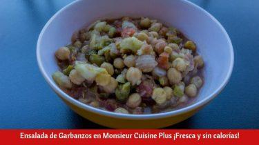 Ensalada de Garbanzos en Monsieur Cuisine Plus