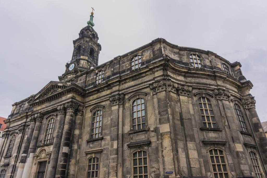 Iglesia de la Santa Cruz en Dresde.