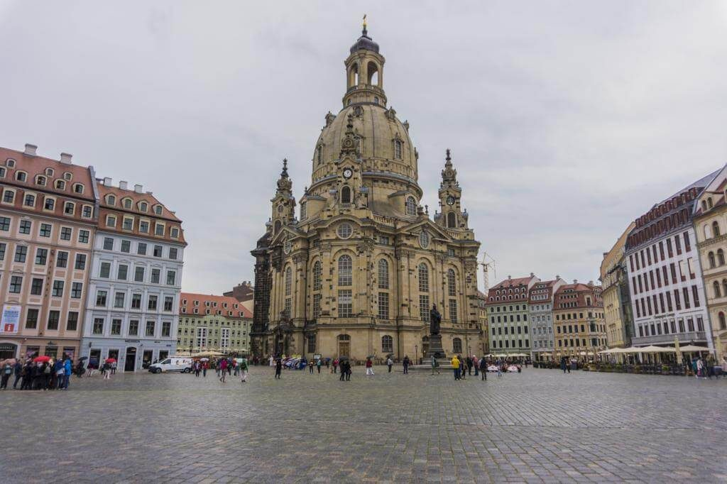 Plaza del Mercado Nuevo de Dresde (Neumarkt).
