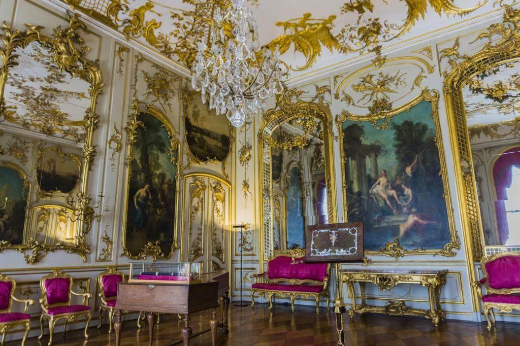 Interior del Palacio de Sanssouci.