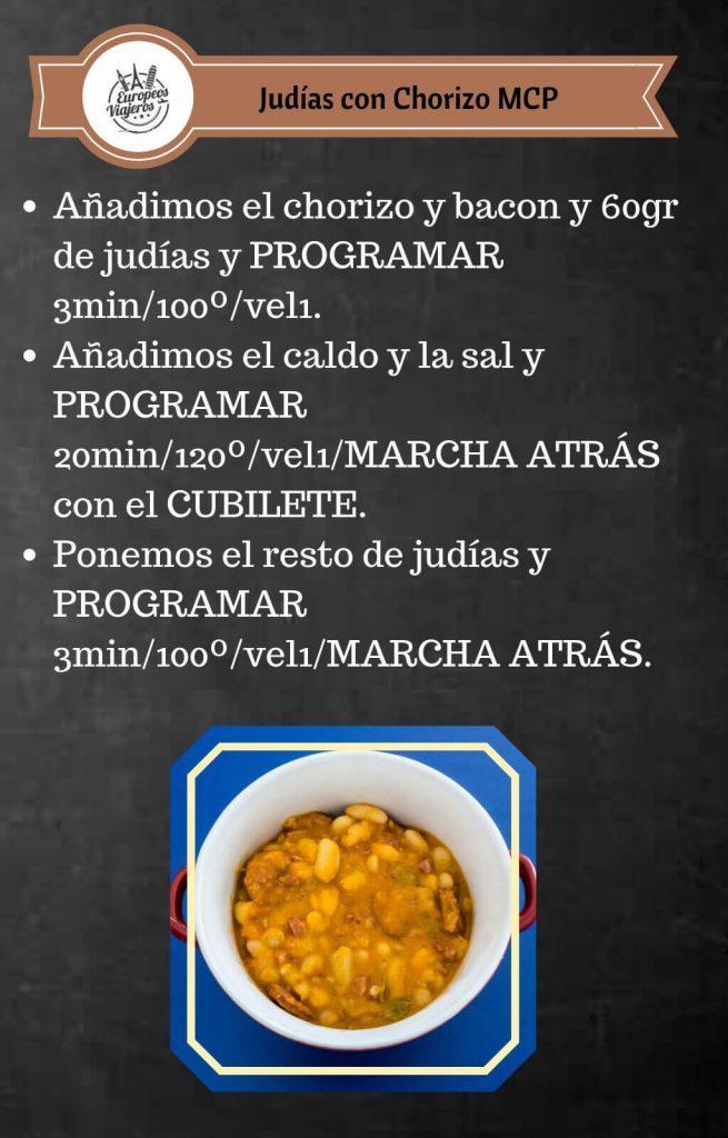 Receta de Judías con Chorizo.