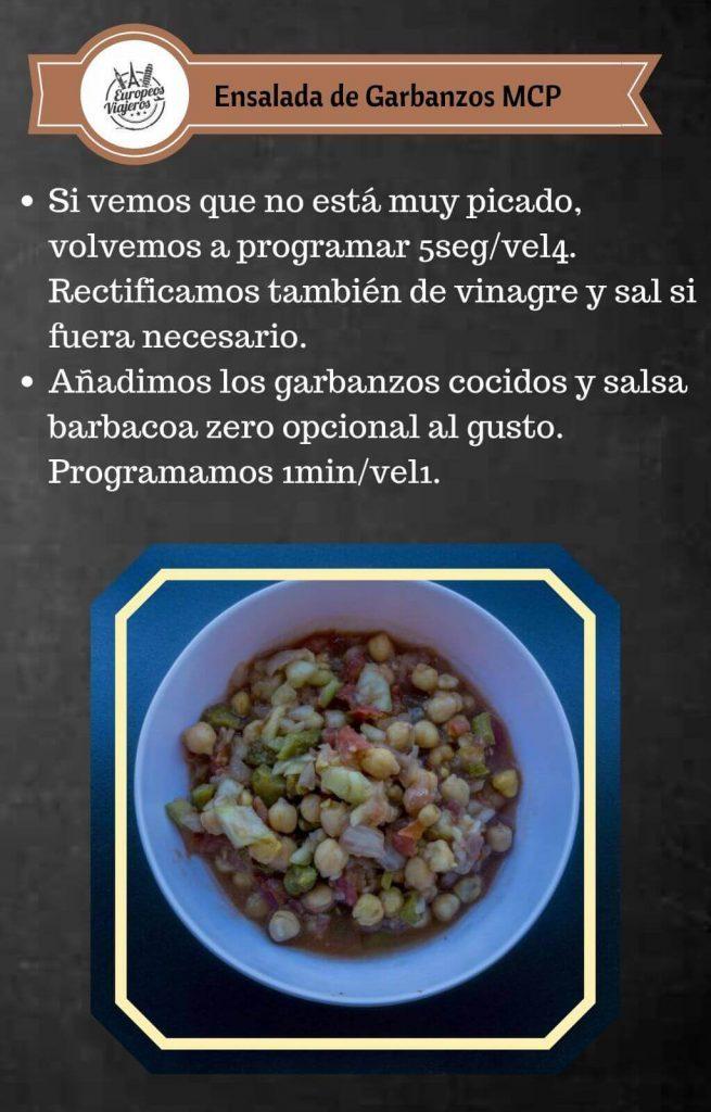 Receta de Ensalada de Garbanzos.