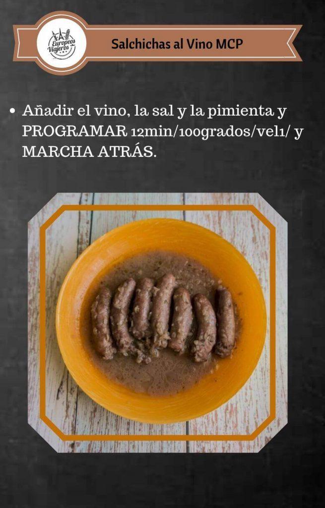 Receta de Salchichas al Vino.