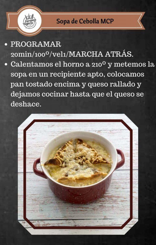 Receta de Sopa de Cebolla.