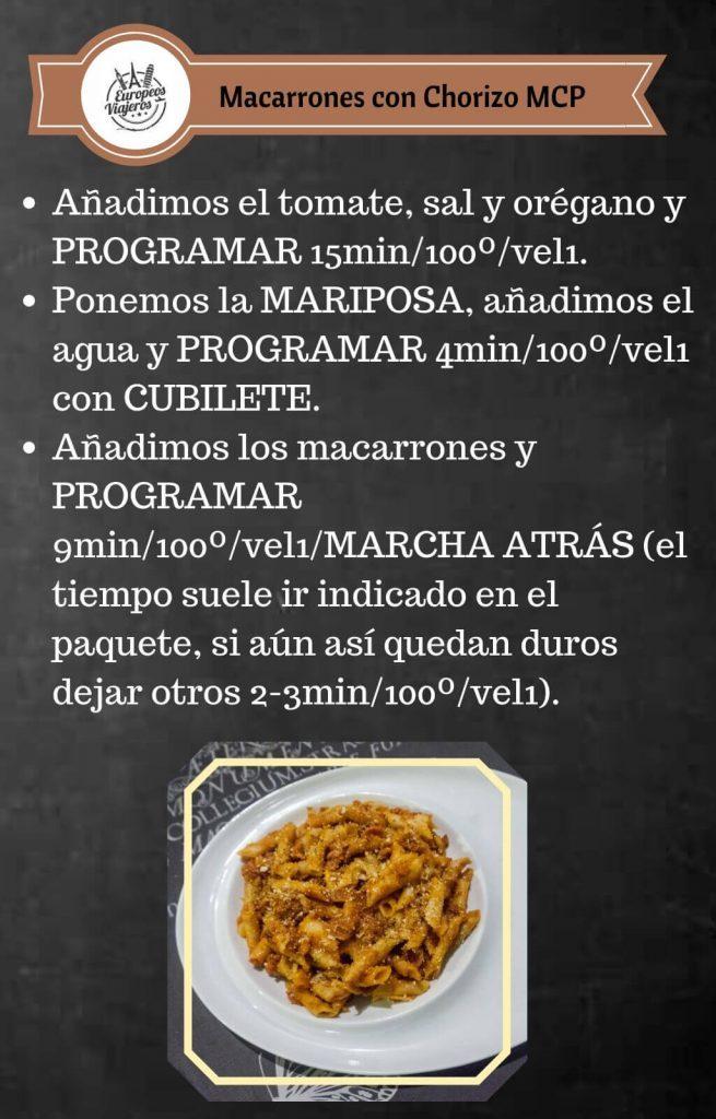 Receta de Macarrones con Chorizo