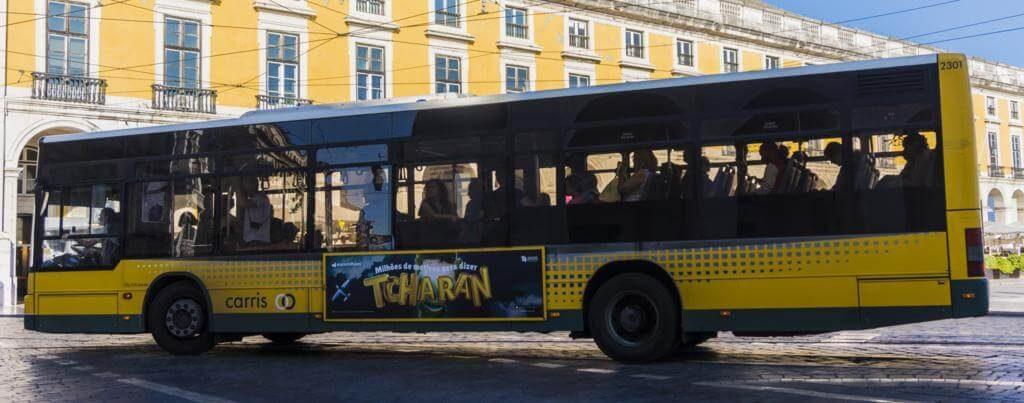 Los autobuses conectan toda la ciudad de Lisboa.
