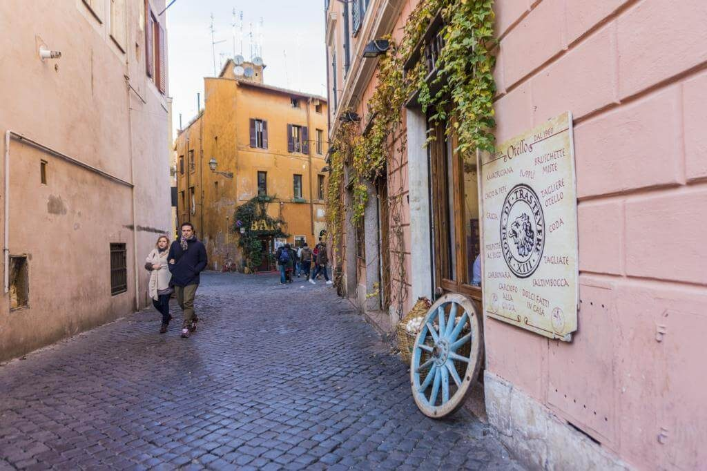 Barrio del Trastevere.