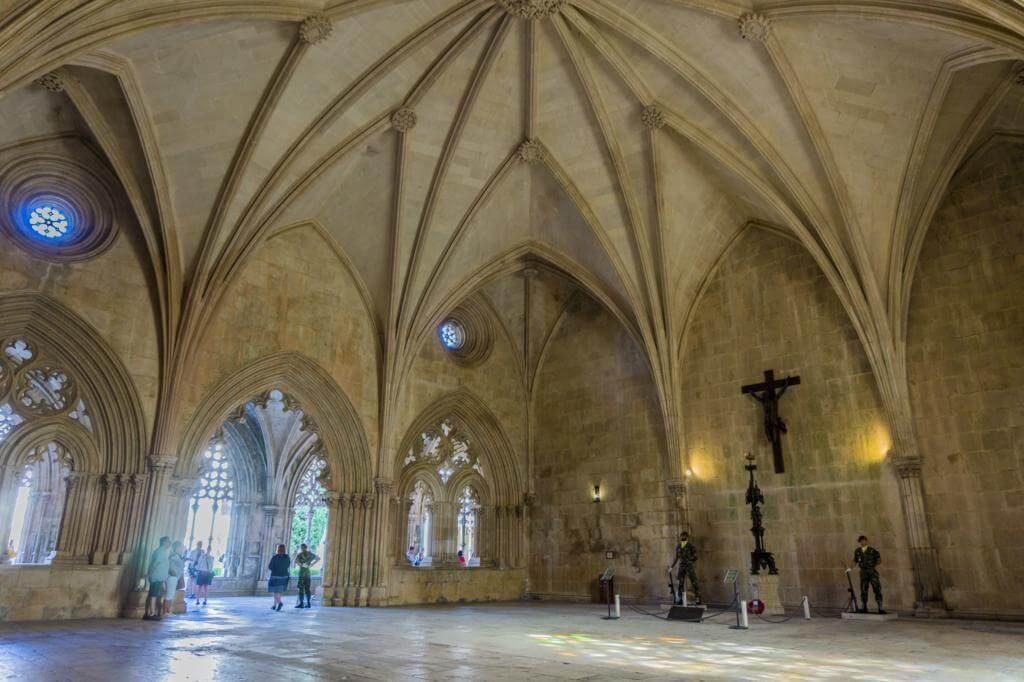 Interior del Monasterio de Batalha.