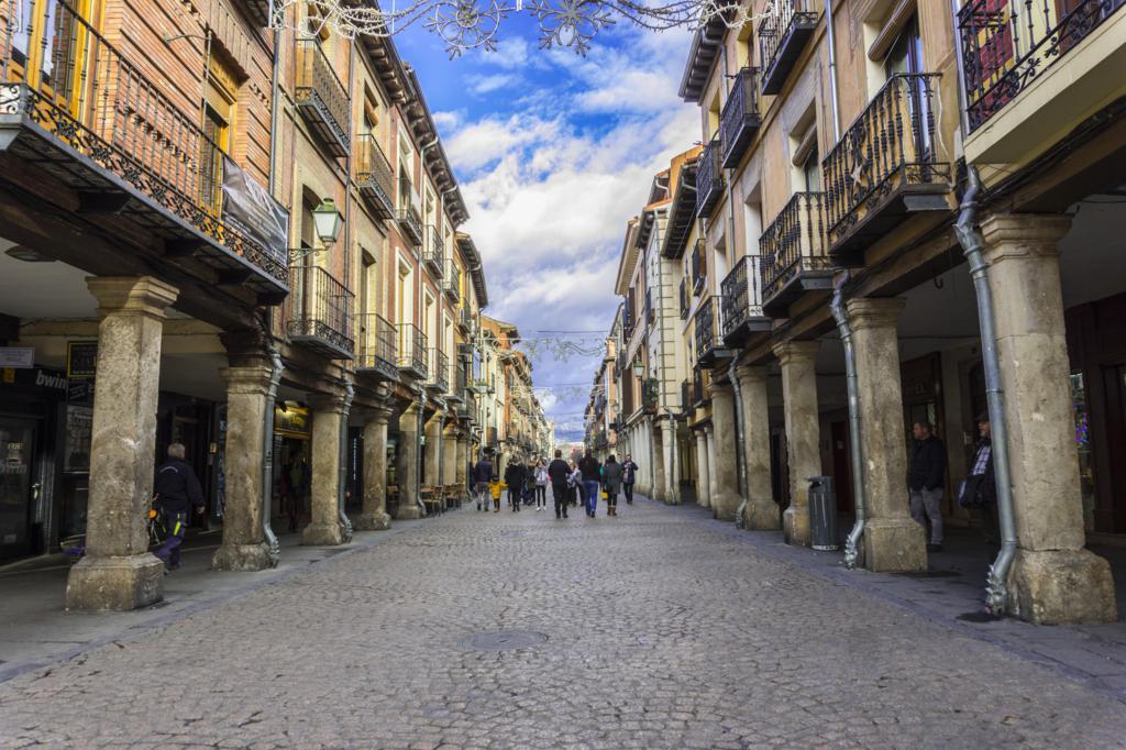 Calle Mayor de Alcalá de Henares.