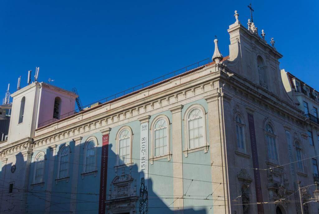 Iglesia de Nuestra Señora de Loreto en Lisboa.