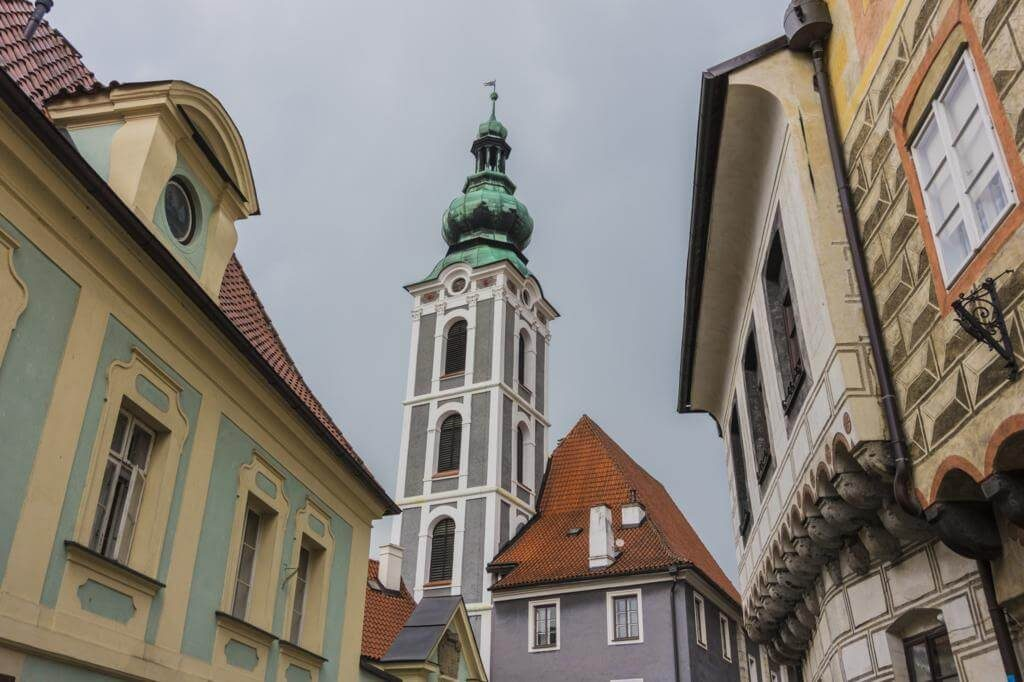 Iglesia de San Justo en Cesky Krumlov.